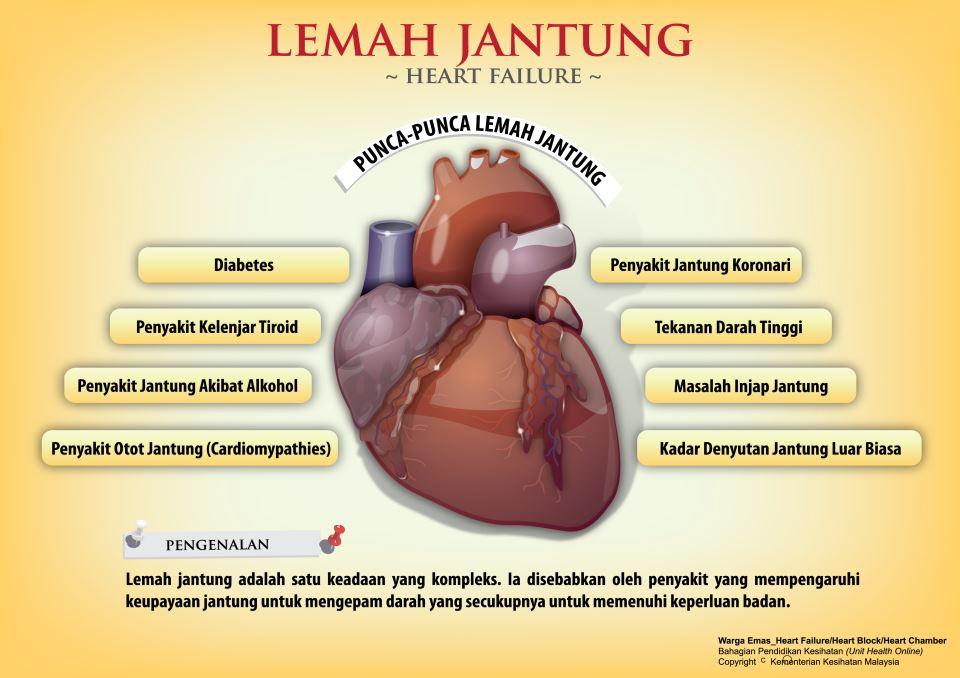 Ciri-Ciri Penyakit Jantung Lemah dan Cara Mencegahnya