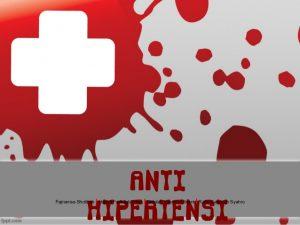 Anti hipertensi dan obat diabetes